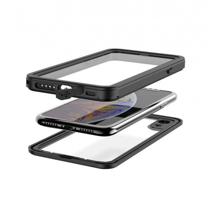 Armor-X MX IP68 Vedenkestävä suojakotelo iPhone XR - musta / läpinäkyvä