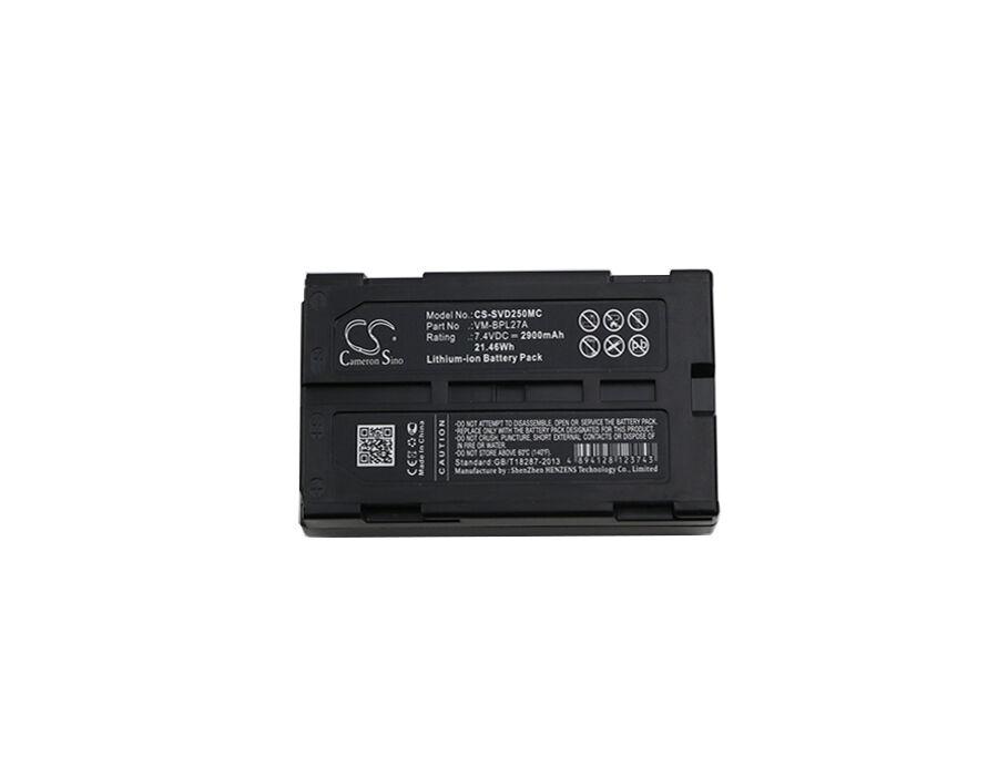 Cameron Sino Hitachi  JVC  Panasonic & RCA - M-BPL30  VM-BPL13  VM-BPL13A - Li-ion Kameran akku - 2900 mAh