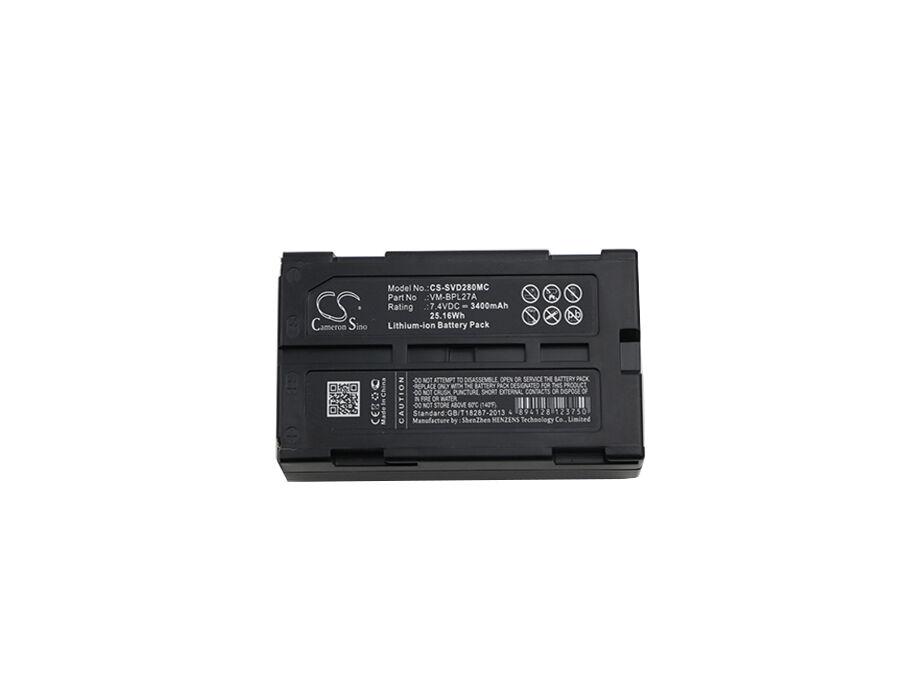 Cameron Sino Hitachi  JVC  Panasonic & RCA - M-BPL30  VM-BPL13  VM-BPL13A - Li-ion Kameran akku - 3400 mAh