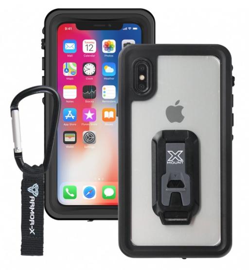 Armor-X MX IP68 Vedenkestävä suojakotelo iPhone X  musta / läpinäkyvä