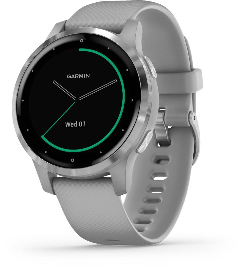 Image of Garmin Vivoactive 4S Powder Gray and Silver GPS-älykello 010-02172-02