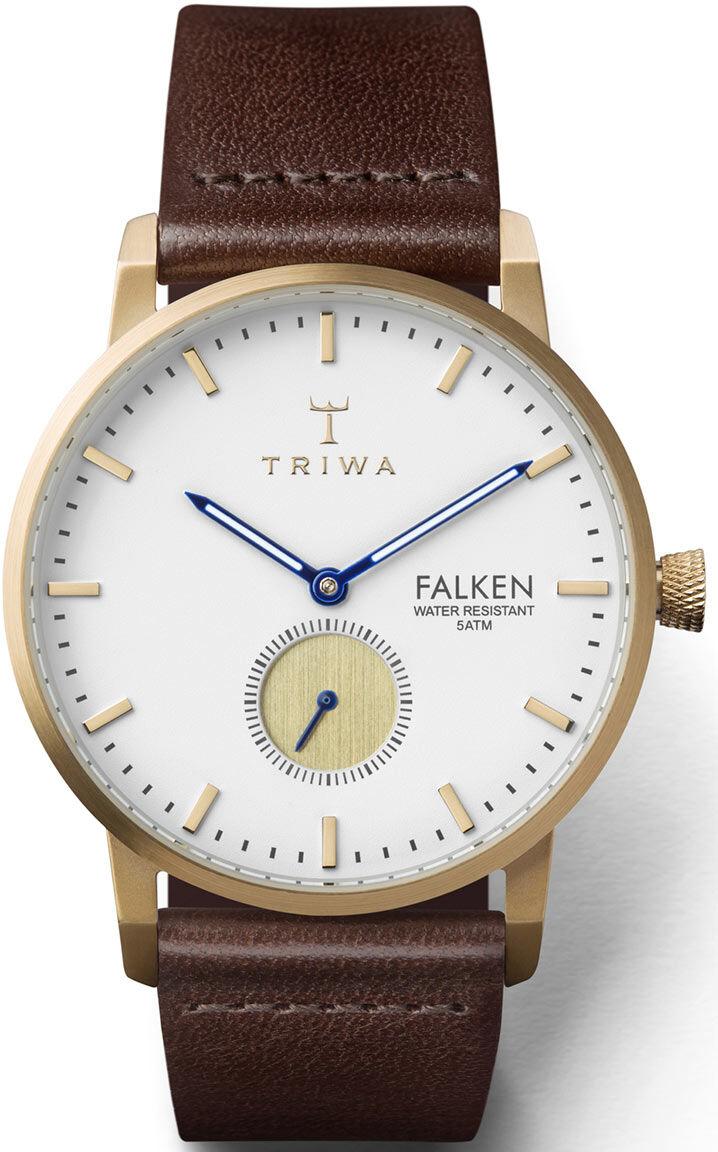 Triwa FAST110 Snow Falken Dark Brown Classic