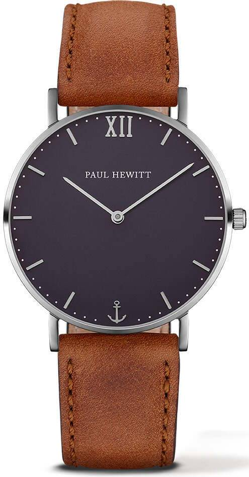Paul Hewitt Sailor Line Blue Lagoon Leather Brown 39mm PH-SA-S-St-B-1M