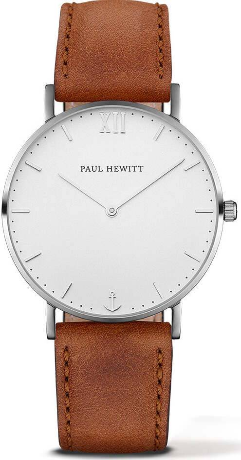 Paul Hewitt Sailor Line White Sand Silver Brown 39mm PH-SA-S-St-W-1M