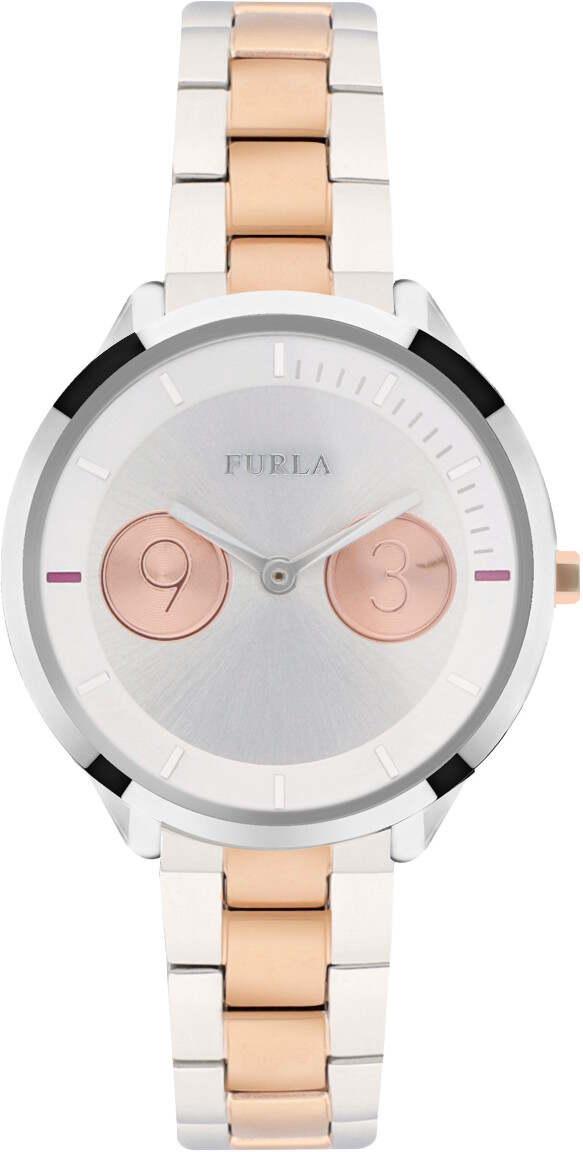 Furla Metropolis 31mm Steel and Pink Gold R4253102507