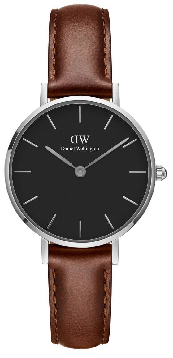 Daniel Wellington Classic Petite St Mawes Silver Black 28mm DW00100237