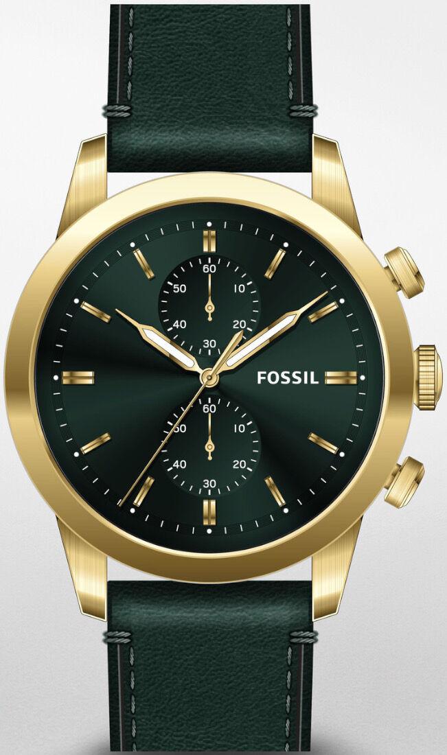 Fossil Townsman Chronograph tummanvihreä FS5599