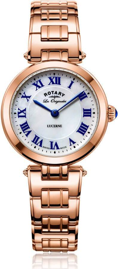Rotary Lucerne Ladies Rose Gold Swiss Watch LB90189/41