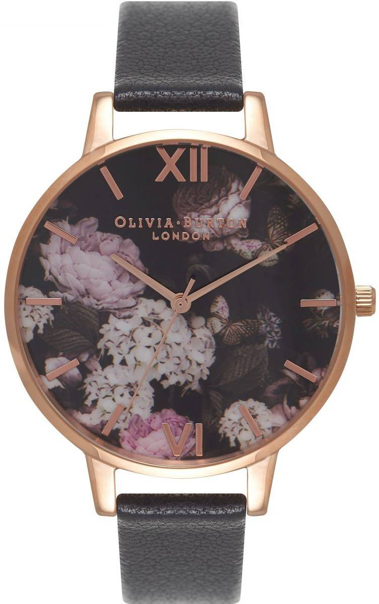 Olivia Burton Signature Floral Black & Rose Gold OB15WG12