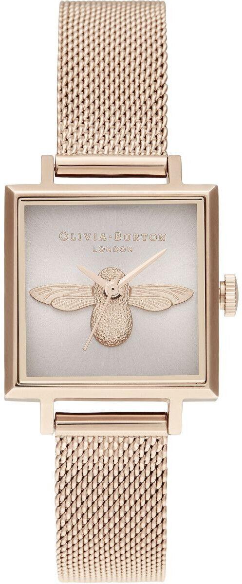 Olivia Burton 3D Bee Square Dial Blush Sunray & Pale Rose Gold OB16AM164