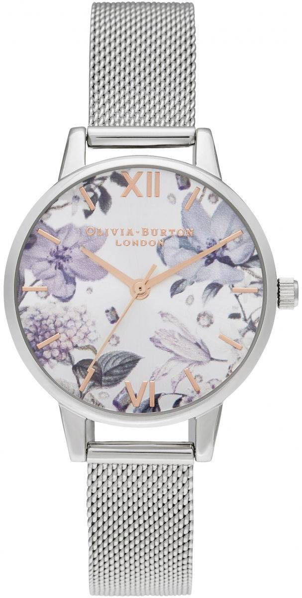 Olivia Burton Bejewelled Florals Midi Silver Mesh & Rose Gold OB16BF26
