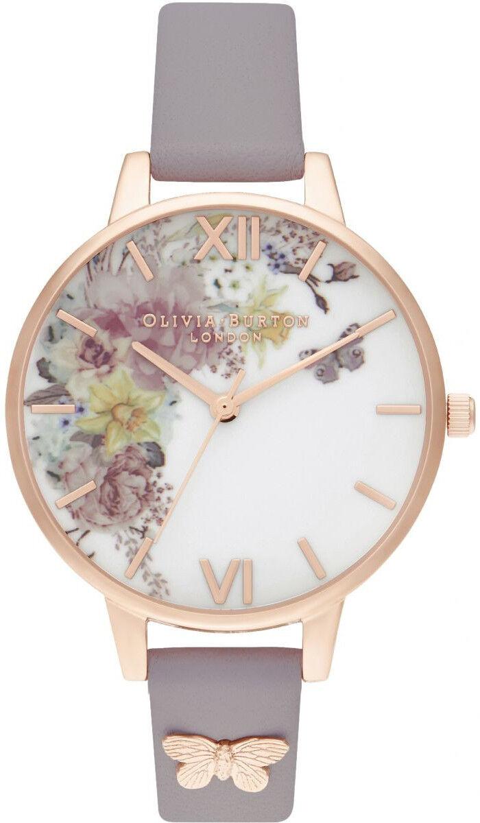 Olivia Burton Enchanted Garden Demi Grey Lilac & Rose Gold OB16EG129