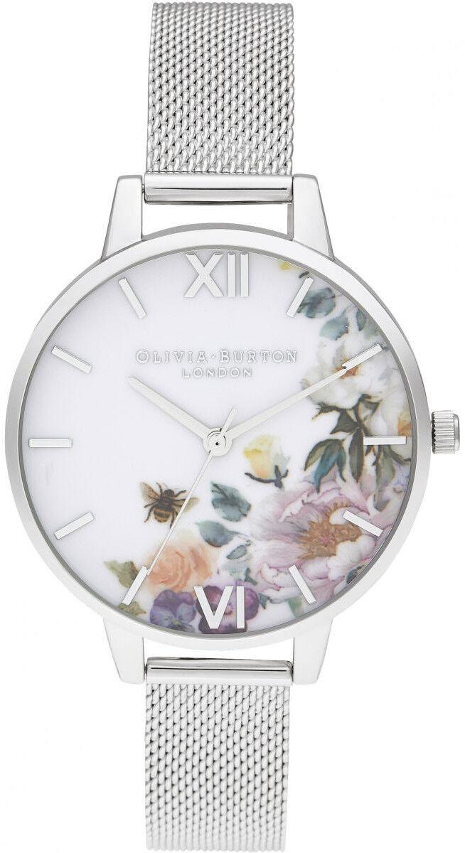 Olivia Burton Enchanted Garden Demi Silver Mesh OB16EG136
