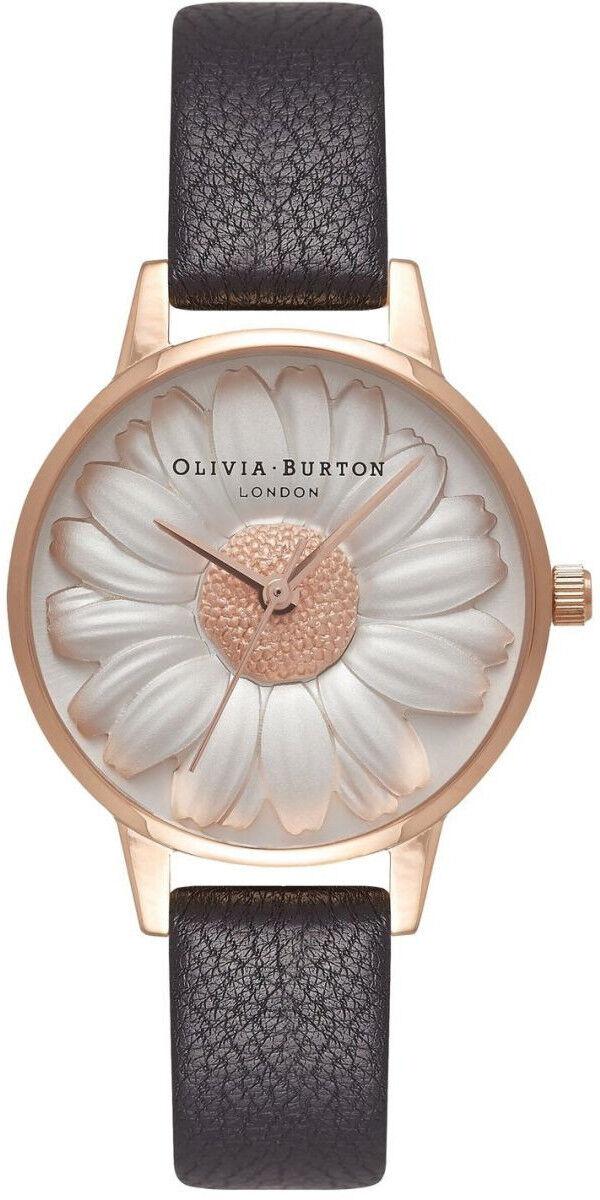 Olivia Burton Flower Show 3D Daisy Black & Rose Gold OB16FS97