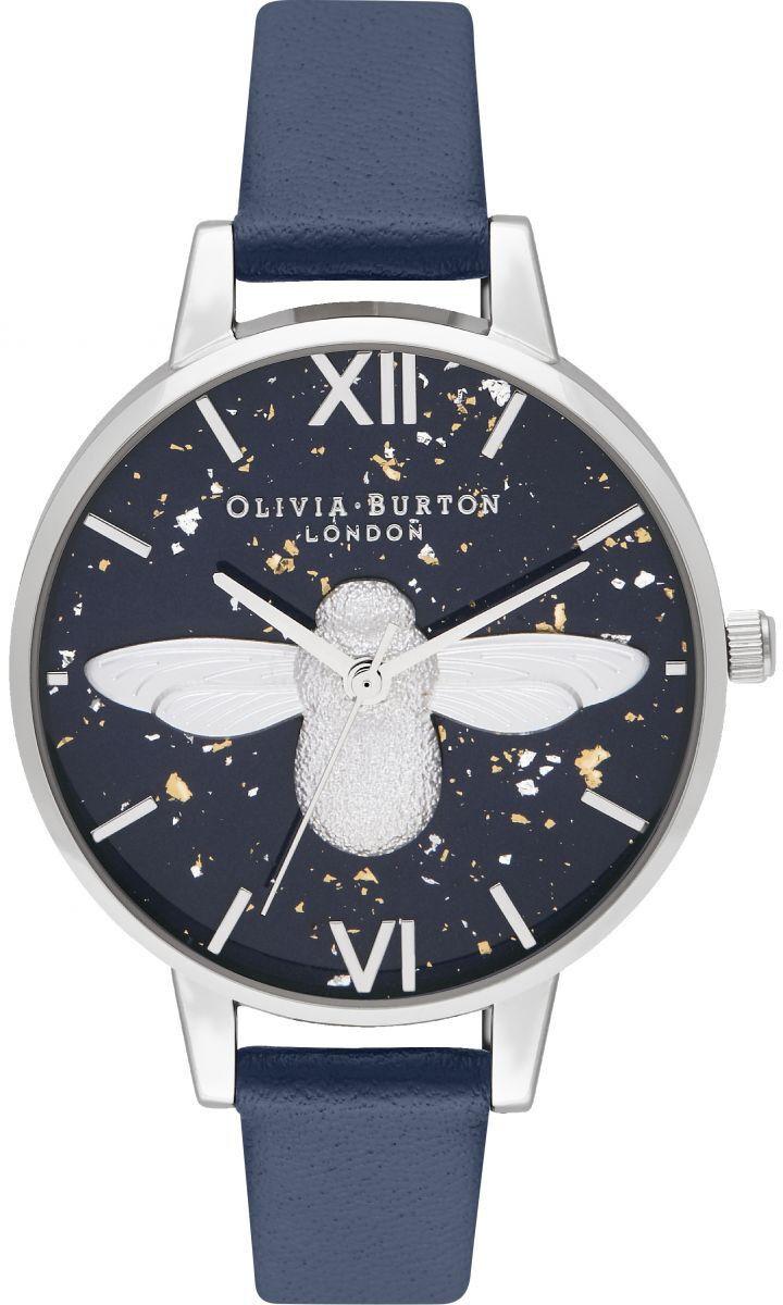Olivia Burton 3D Bee, Midnight, Navy & Silver OB16GD04