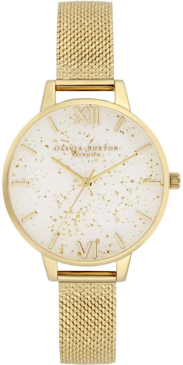 Olivia Burton Celestial Demi Dial Watch with Boucle Mesh OB16GD15