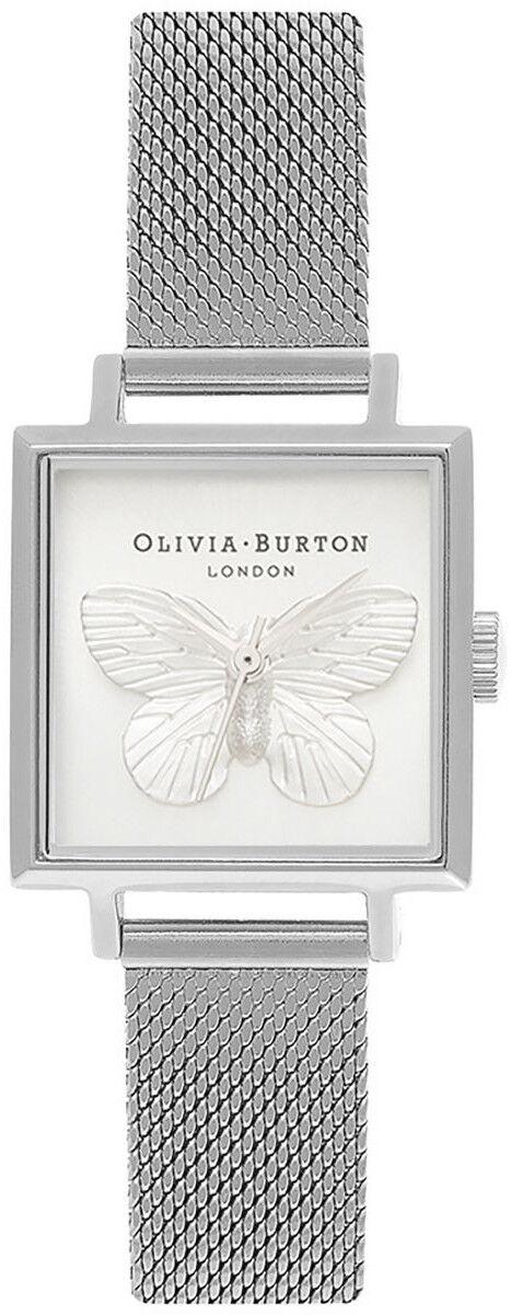Olivia Burton 3D Butterfly Mesh Silver OB16MB15