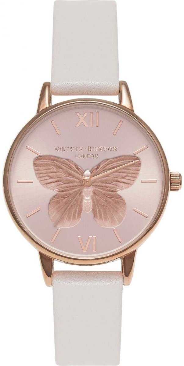 Olivia Burton 3D Butterfly Blush & Rose Gold OB16MB16