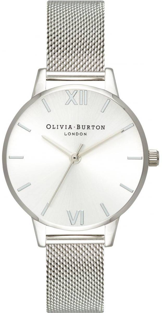 Olivia Burton Sunray Dial Midi Dial Silver Mesh OB16MD86