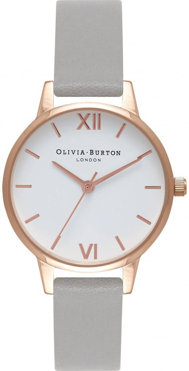 Olivia Burton White Dial Grey & Rose Gold OB16MDW05