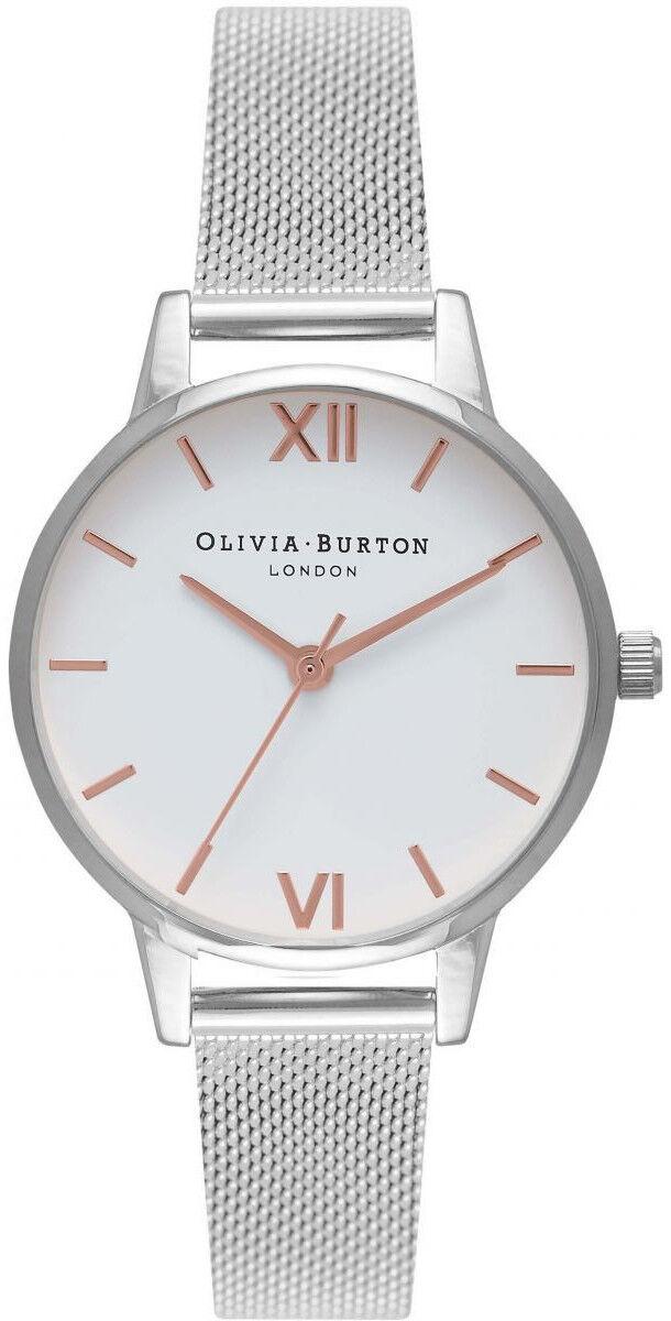 Olivia Burton Midi Dial White Dial & Silver Mesh OB16MDW22