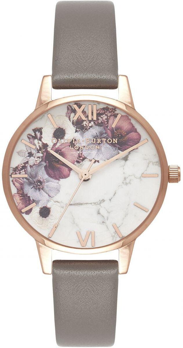 Olivia Burton Marble Floral London Grey & Rose Gold OB16MF08