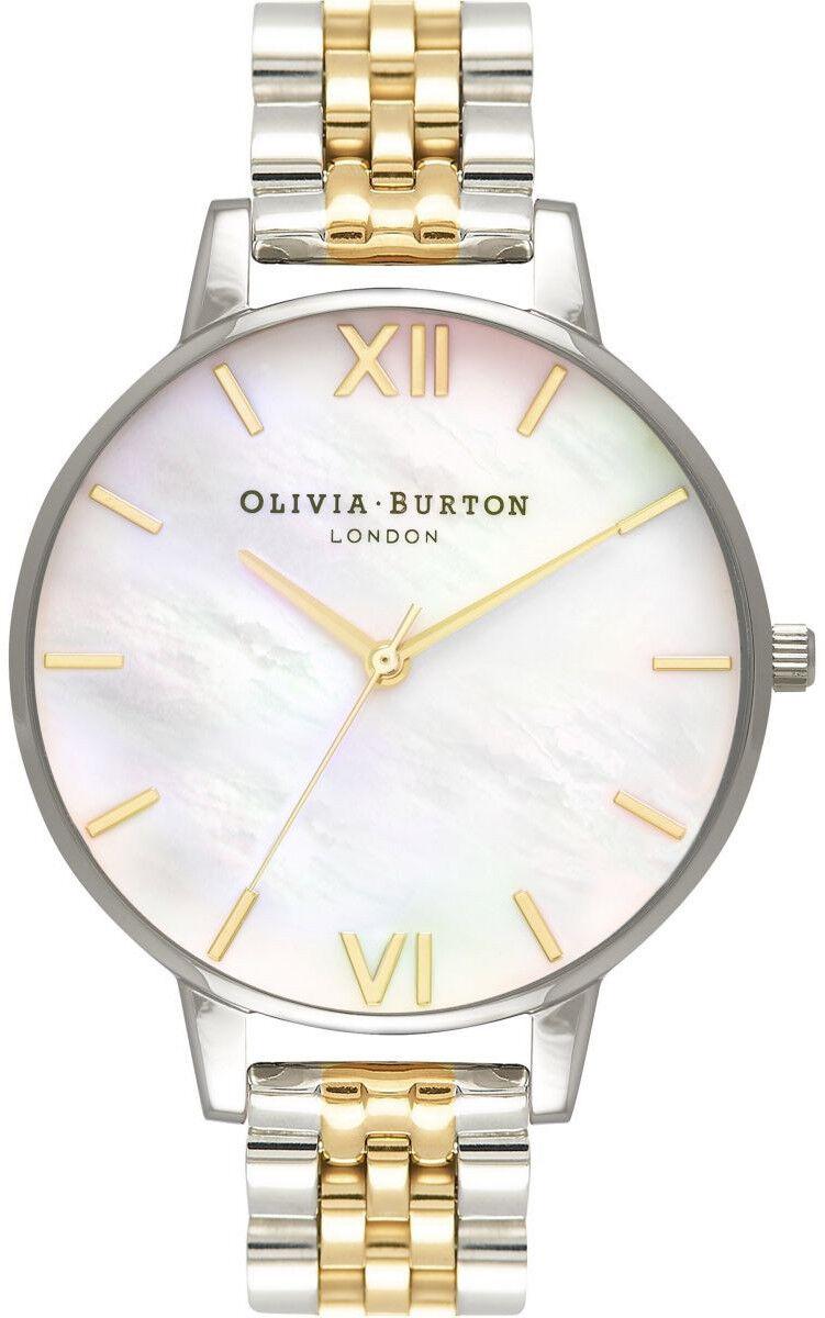 Olivia Burton Mother of Pearl White Bracelet, Gold & Silver OB16MOP05