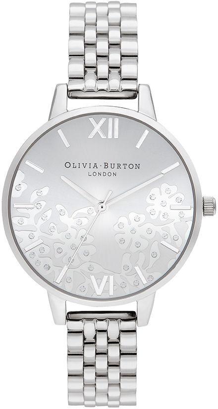 Olivia Burton Bejewelled Lace Silver Bracelet OB16MV101