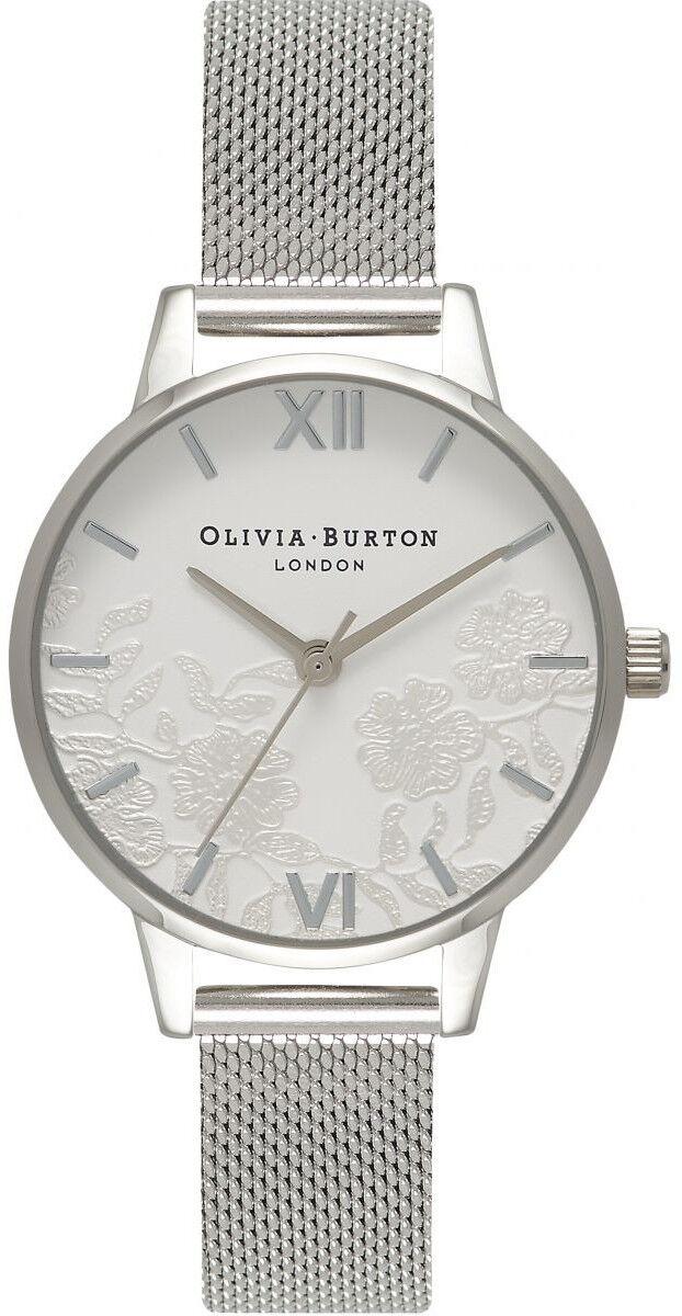 Olivia Burton Lace Detail Silver Mesh OB16MV54
