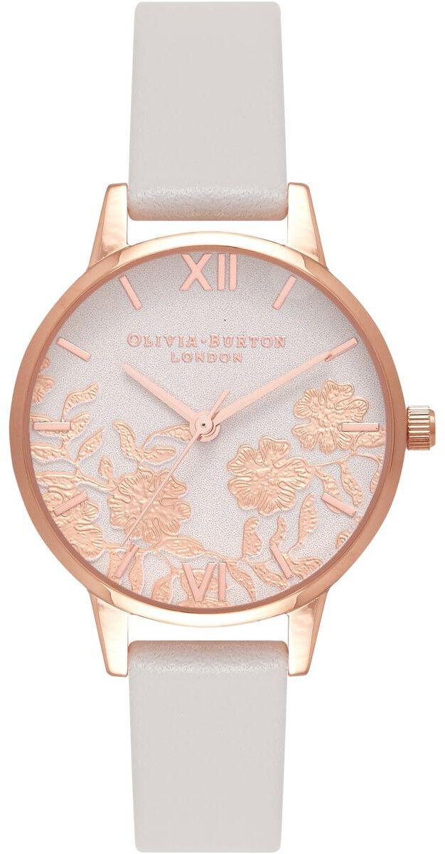 Olivia Burton Lace Detail Blush & Rose Gold OB16MV69