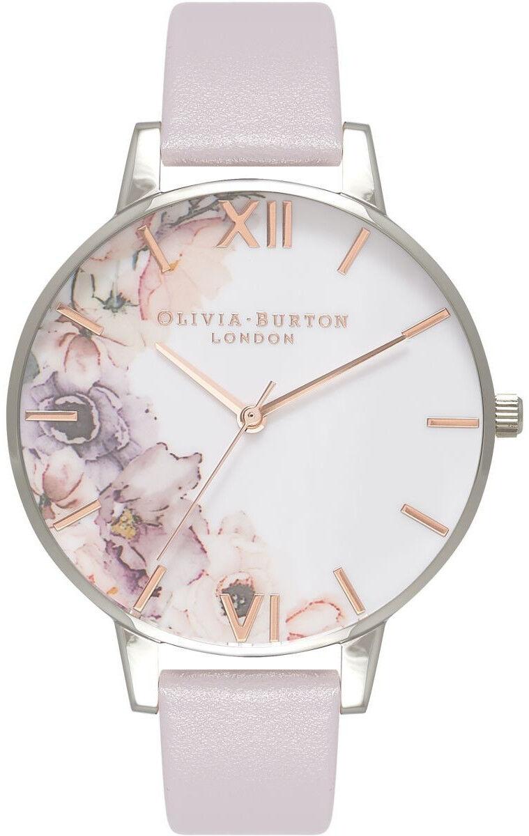 Olivia Burton Watercolour Florals Grey Lilac & Silver OB16PP32