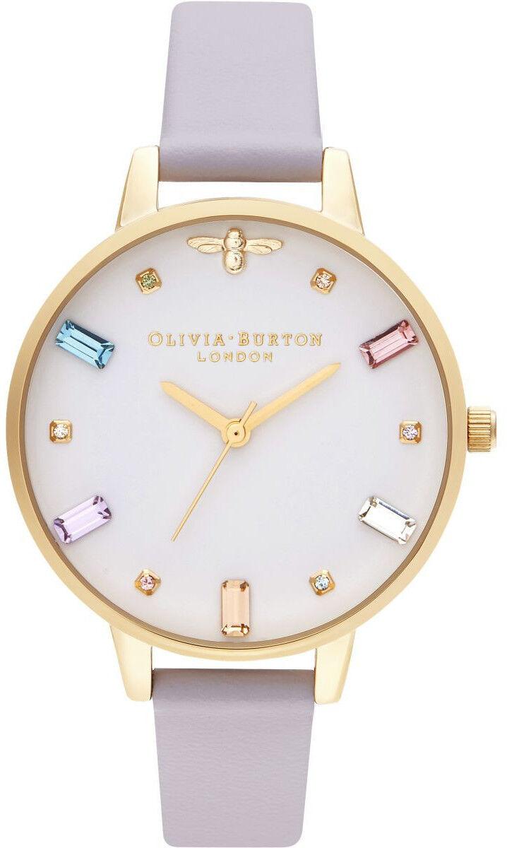 Olivia Burton Rainbow Bee Demi Parma Violet & Gold OB16RB11