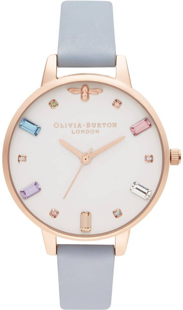 Olivia Burton Rainbow Bee Demi Chalk Blue & Rose Gold OB16RB12