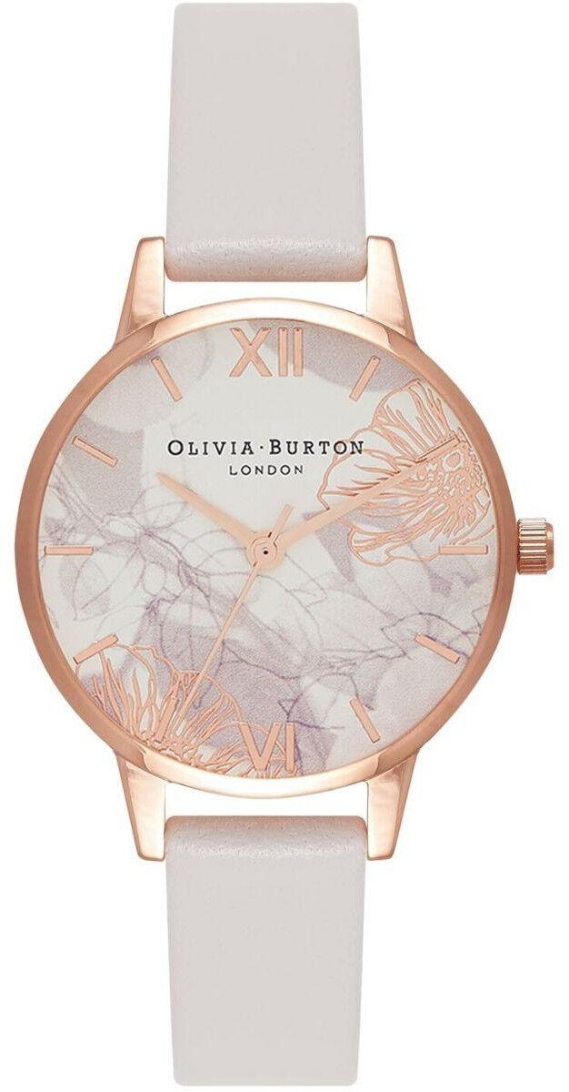 Olivia Burton Abstract Florals Blush & Rose Gold OB16VM12