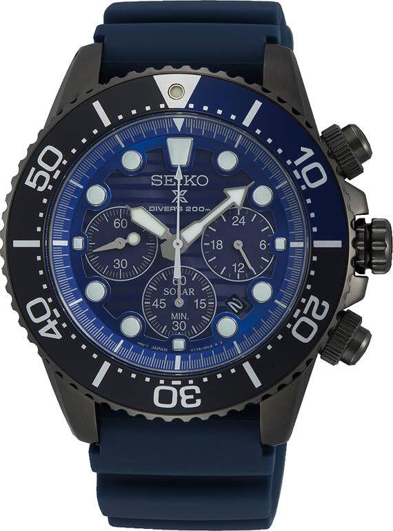 Seiko Prospex SSC701P1 Save the Ocean Black Series Solar Chronograph