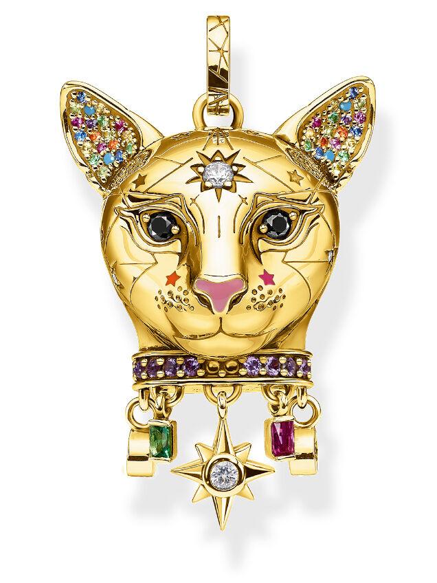 Thomas Sabo Charm club cat gold hela 1819-471-7