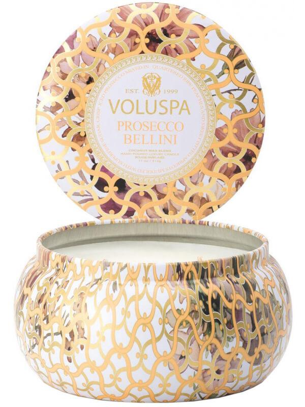 Voluspa 2-Wick Maison Metallo Candle Prosecco Bellini