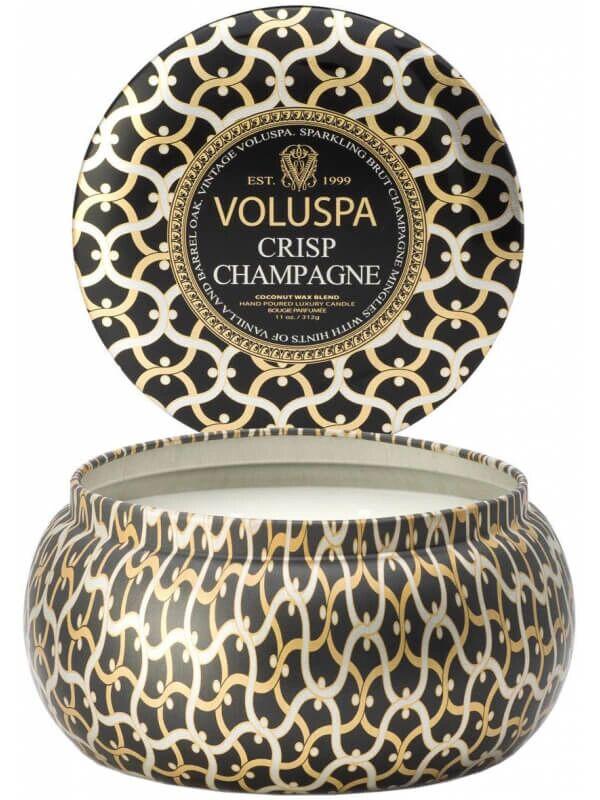 Voluspa 2 Wick Maison Metallo Candle Crisp Champagne