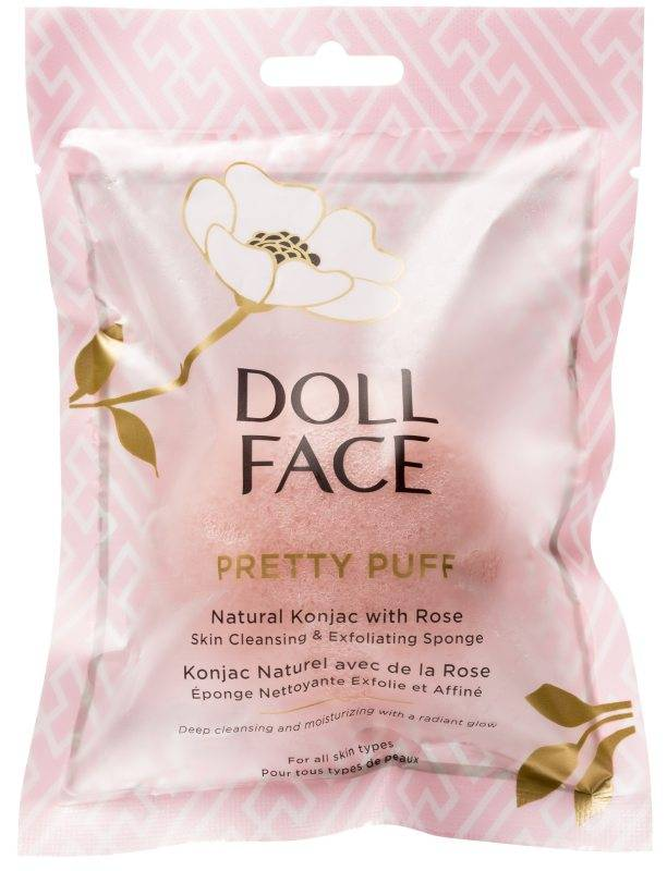 Doll Face Pretty Puff Rose Konjac Cleansing Sponge