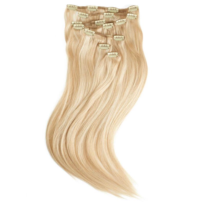 "Rapunzel of Sweden ""Rapunzel of Sweden Clip-on Set Original 7 piece P24/60 Light Golden Blond Mix 50cm"""