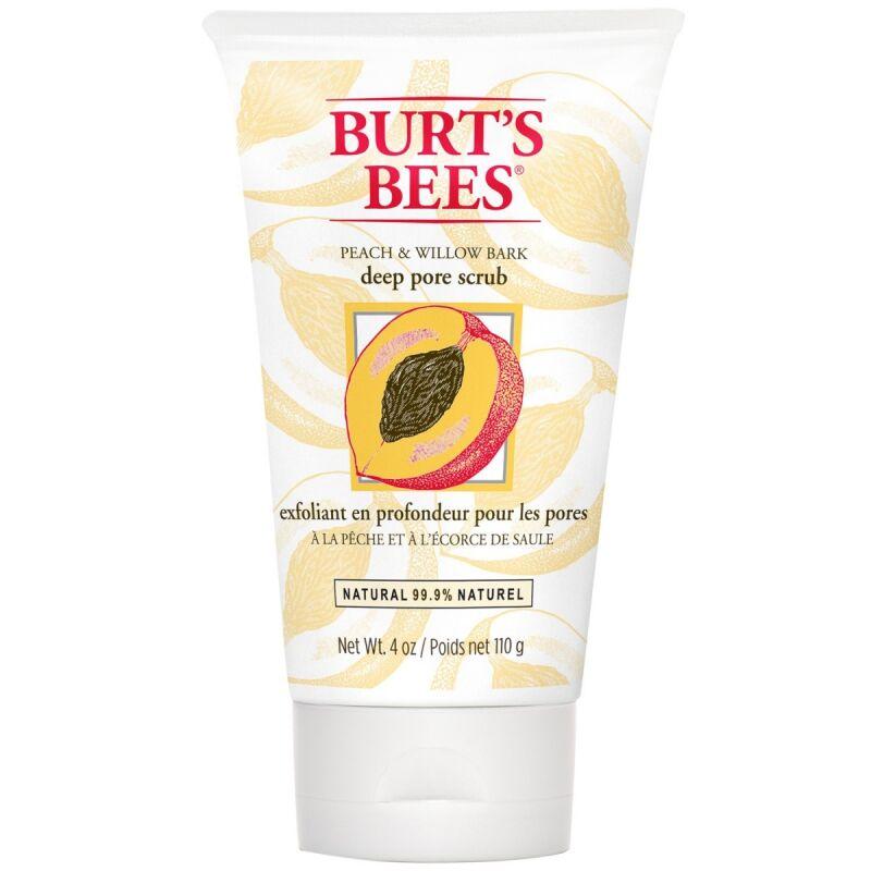 Burts Bees Peach & Willow Bark Deep Pore Scrub (110g)