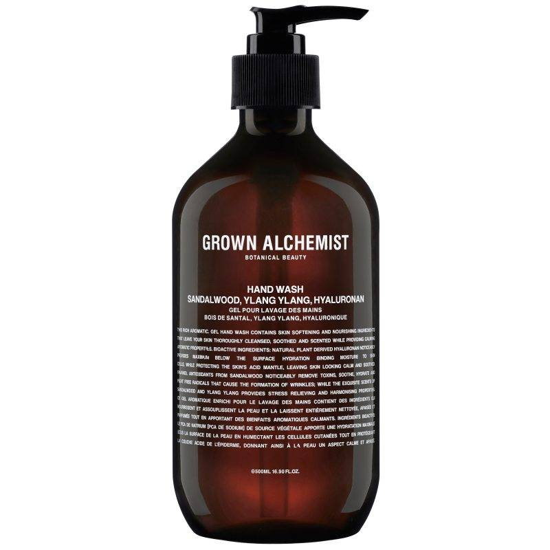 Grown Alchemist Hand Wash Sandalwood. Ylang Ylang & Hyaluronan (500ml)