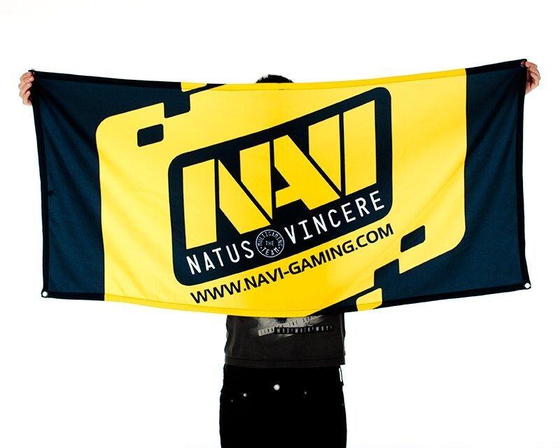 Natus Vincere Team Flag - Musta/Keltainen