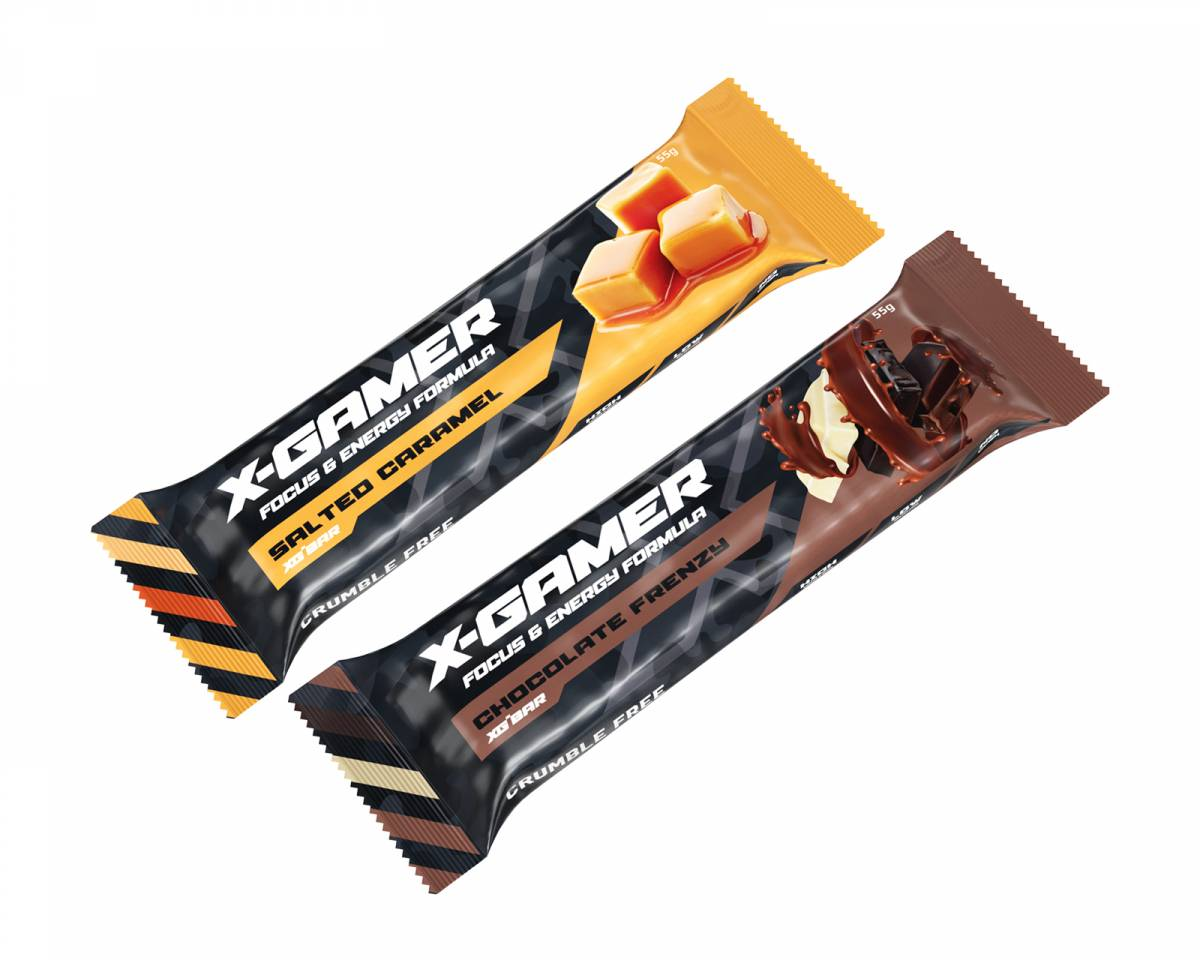 X-Gamer 10+10 x 55g X-Bar Chocolate Frenzy + Salted Caramel