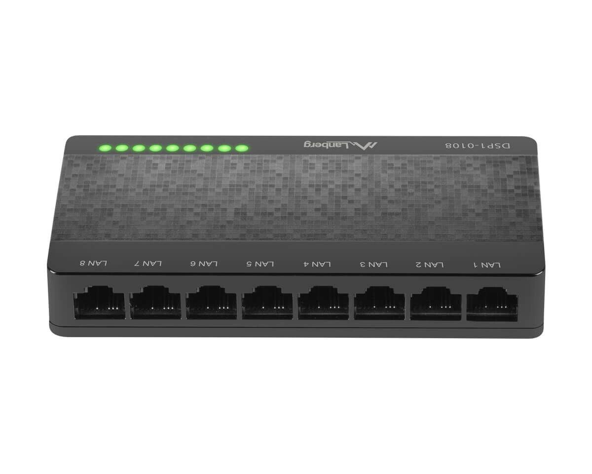 Lanberg DSP1-1008 Kytkin 8-portar 100/1000 Mbps