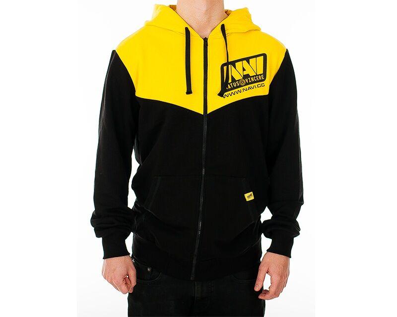 Natus Vincere Player Zip-up Hoodie Musta/Keltainen