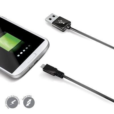 Celly datakaapeli Micro USB, 2m, Musta