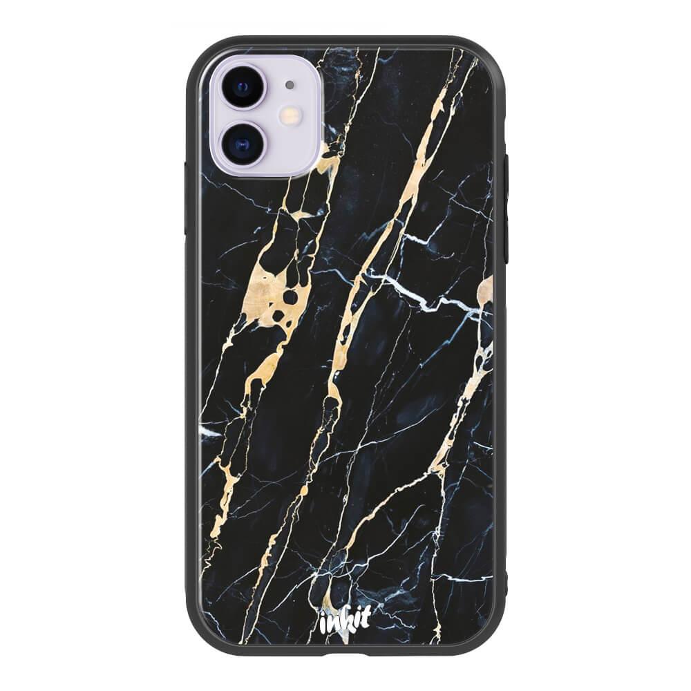 Apple iPhone 11 Inkit Suojakuori, Golden Lace Marble