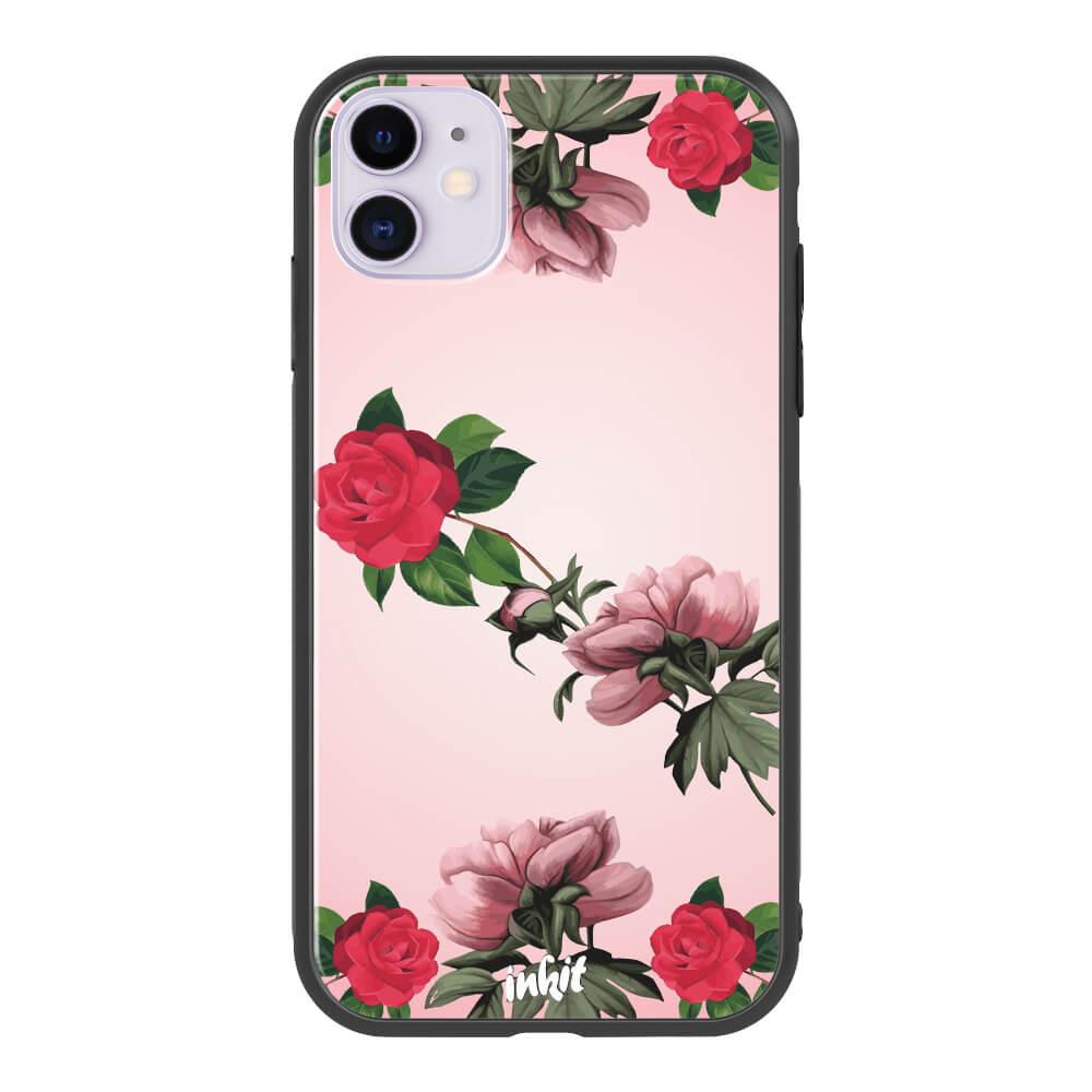 Apple iPhone 11 Inkit Suojakuori, Rose Flow