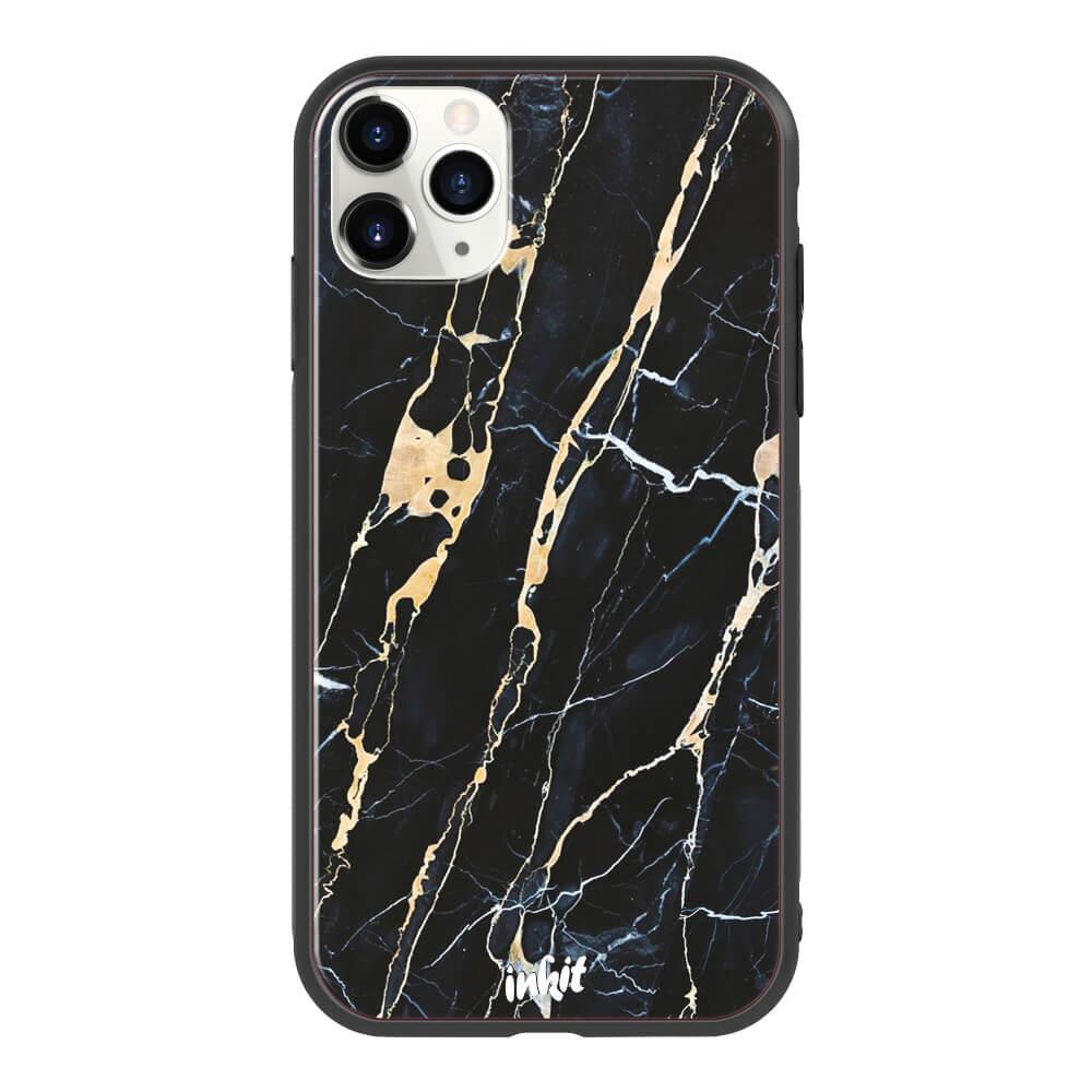 Apple iPhone 11 Pro Max Inkit Suojakuori, Golden Lace Marble
